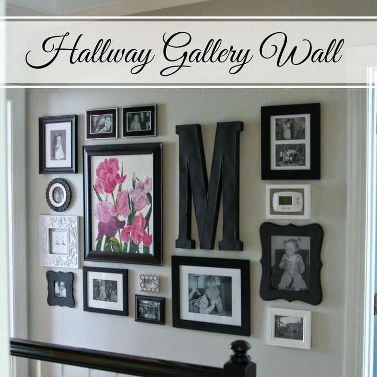 Gallery wall art from http://littlebitsofhome.blogspot.com/2015/04/hallway-gallery-wall.html?m=1 Love how she frames the light switch and thermostat to make them blend in!