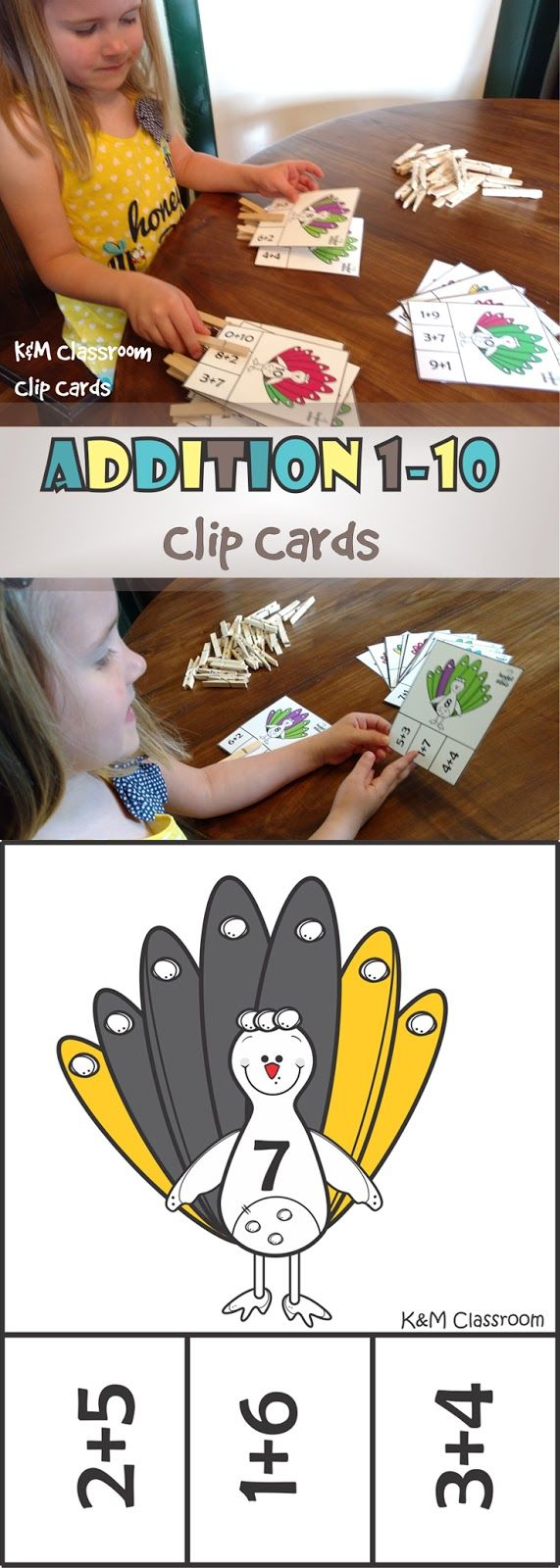 This set of addition clip cards will have your students practicing addition fact fluency in a funny way.