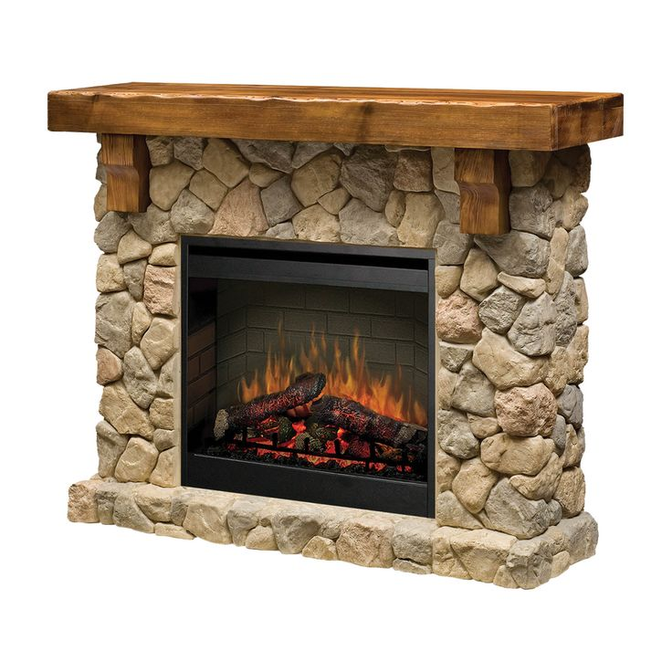 The Fieldstone Fireplace Mantel suite features the patented Electraflame 3D flame effect and a 2kW fan heater. It can be set up in minutes, without flues or expensive venting.
