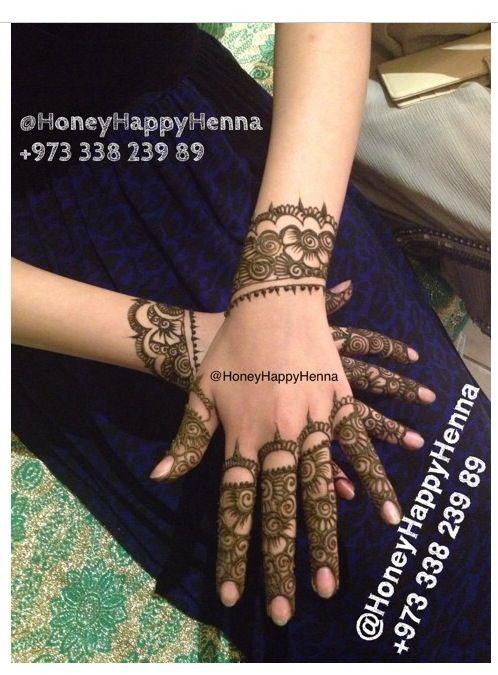 lovely design on the fingers