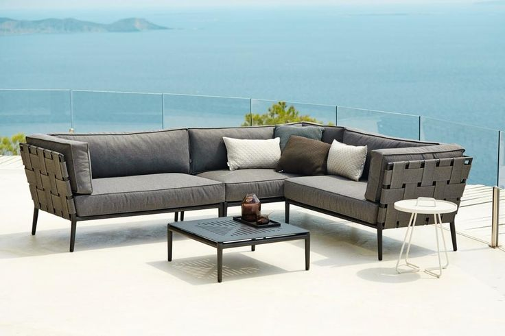 CONIC Cane-line Soft-Touch® meble na taras. Grey Willow House