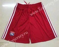 2017-18 Olympique Lyonnais Away Red Thailand Soccer Shorts