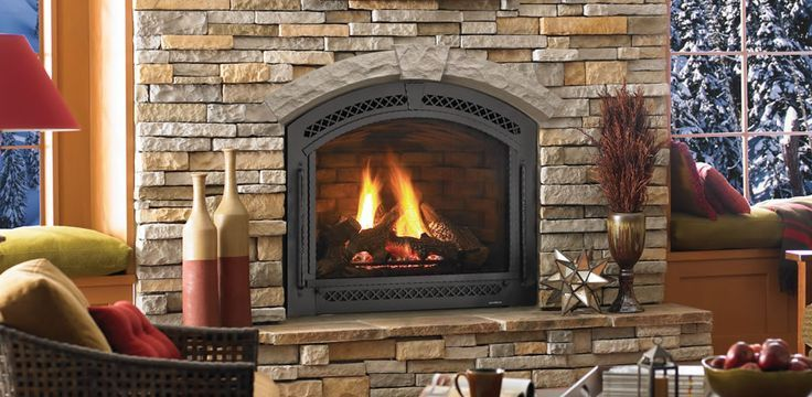 This is a true arch direct vent gas fireplace by Heat-N-Glo called ...