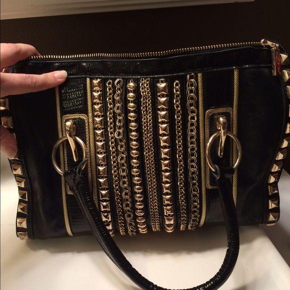 Nicole Lee Handbag with chains Nicole Lee Handbag. 14 inch handles, bag is 12x9 Nicole Lee Bags Totes