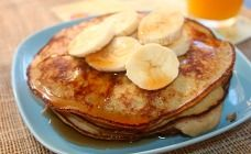 2 Ingredient Pancakes Recipe - Candida detox approved diet too -  3 small ripe bananas, mashed and 3 eggs, lightly beaten.  Mix together and put 'em on the grill.