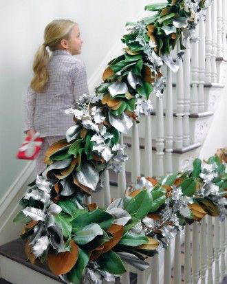 """See the """"Silvered Magnolia and Holly Garland"""" in our  gallery"""