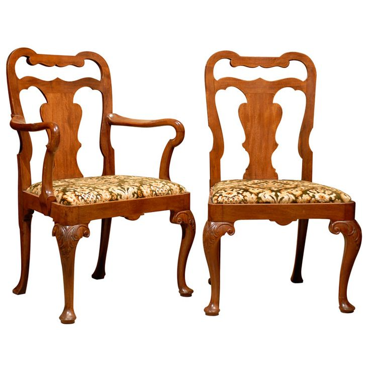 A Set Of Eight 8 Queen Anne Style Dining Chairs Ca1890  Queen Simple Queen Anne Dining Room Set Review
