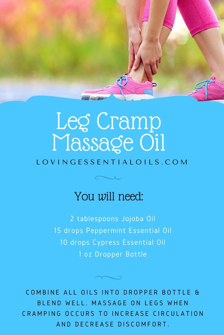 Leg Cramp Massage Oil Recipe with Essential Oils | Jojoba Oil | Peppermint Oil | Cypress Oil | Massage Oil Recipe | Dropper Bottle