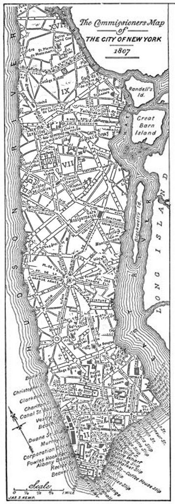 Antique map of New York, 1807