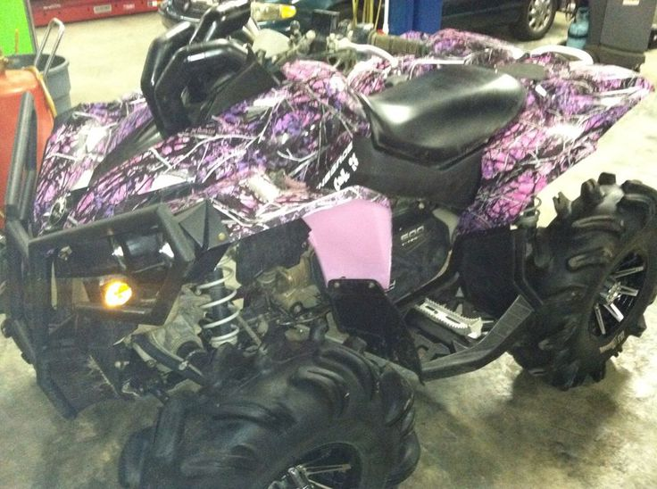 Can Am Renegade is my dream atv but the pink would make it so shed let me get it haha dipped in Muddy Girl Camo!