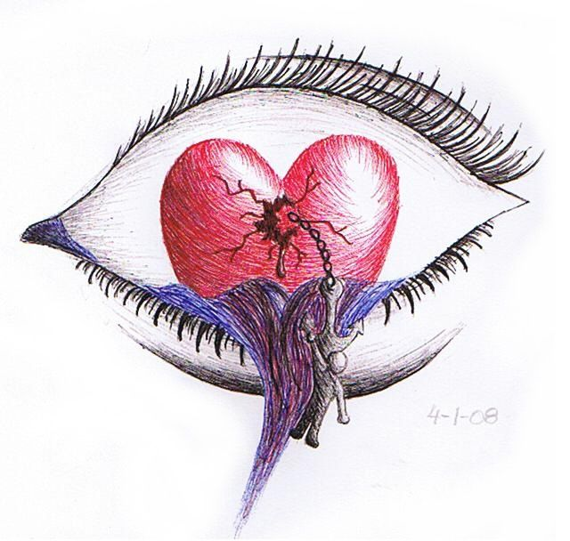 broken heart drawings | Waterfall of a Broken Heart by ~TrappedAndConfused on deviantART