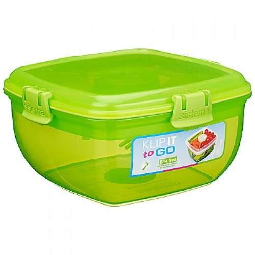 Salad to Go Food Container by Sistema Green www