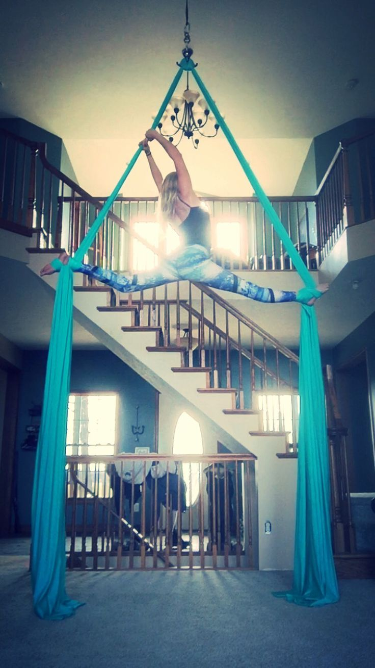 Aerial silks- this would be cool if you had a big home workout room and you could set up ariel silks and it would look like a chandelier