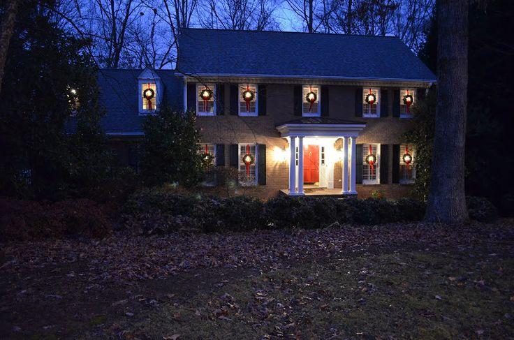 Exterior Christmas wreaths