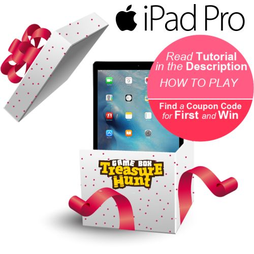 BOX Treasure Hunt - Apple i-Pad Pro 12.9 inch 32 GB