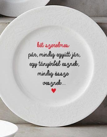 Valentin napi tányér. Nézz körül webshopunkban, válassz egyedi ajándékaink közül!