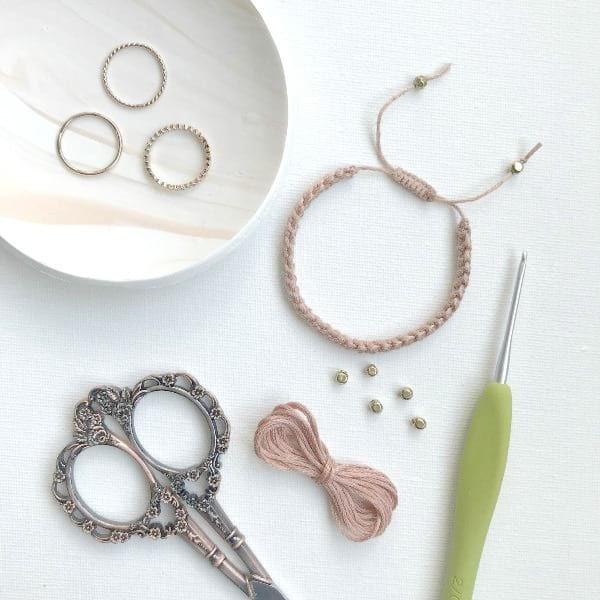 Crochet Cord Bracelet with Adjustable Closure | Crochet Crazy ...