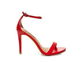 Red Ankle Strap Heels | Steve Madden STECY $79.95