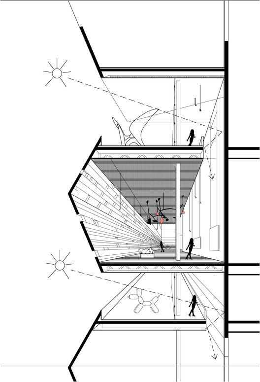 Cultural Center in Guadalajara Competition Entry,detailed section