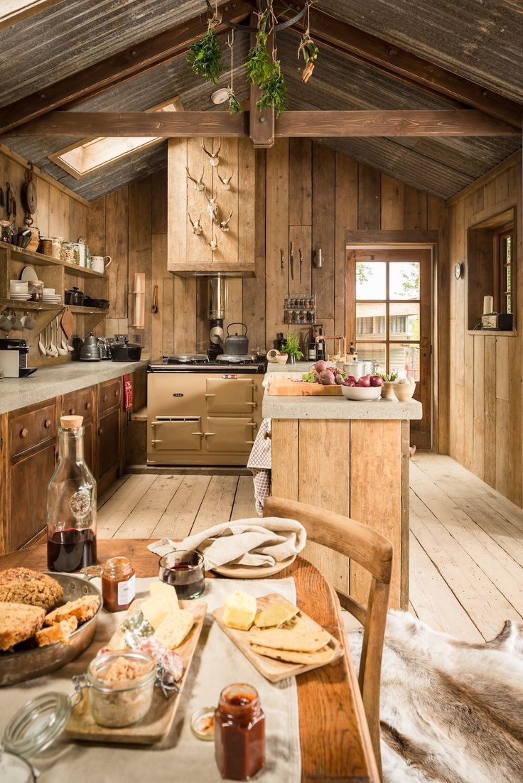 rustic and romantic firefly cabin has the time worn patina and rough charm of - Rustic Interior Design Ideas