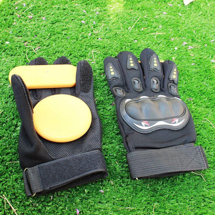 1Pair Full Finger Sport Shockproof Longboard Downhill Skateboard Glove Skate Slide Protective antiskid and abrasion resistant