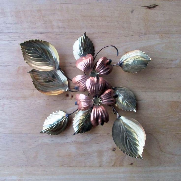 Metal Flower Wall Art | Vintage Metal Decor By OldShedVintage On Etsy  Https://