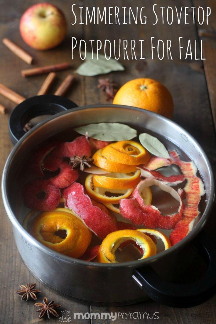 Simmering stovetop potpourri recipe for fall