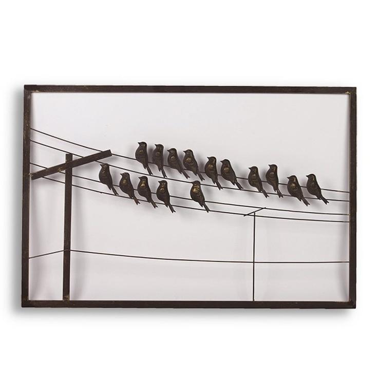 Metal Bird Wall Decor.