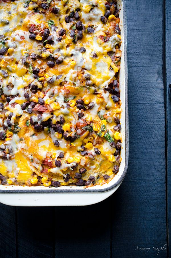 This Mexican Tortilla Casserole is a fast and easy recipe that can be prepared in just 30 minutes! It's total comfort food.