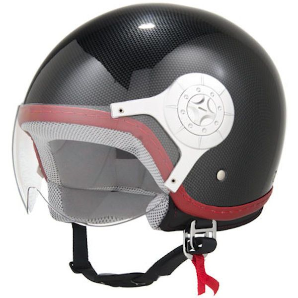 Cafe Racer Cruiser Bobber Helmet 3/4 Open Face Carbon Fiber Retro Vintag - M #EVOS