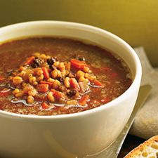 Recette Soupe à l'orge et au boeuf haché  - Coup de Pouce