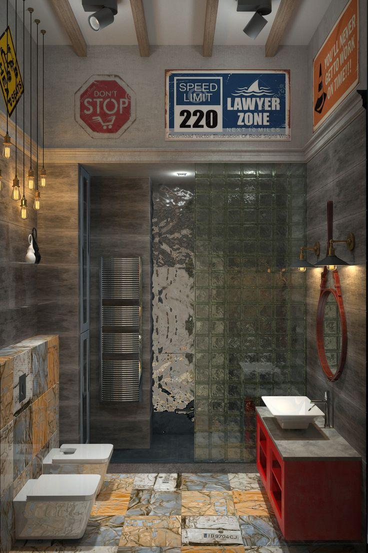 LOFT must go on - Ванная комната 3D – Комфорт & Стиль | PINWIN - конкурсы…