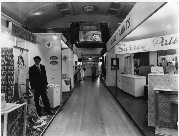 Dorking Halls post-war commercial exhibition.