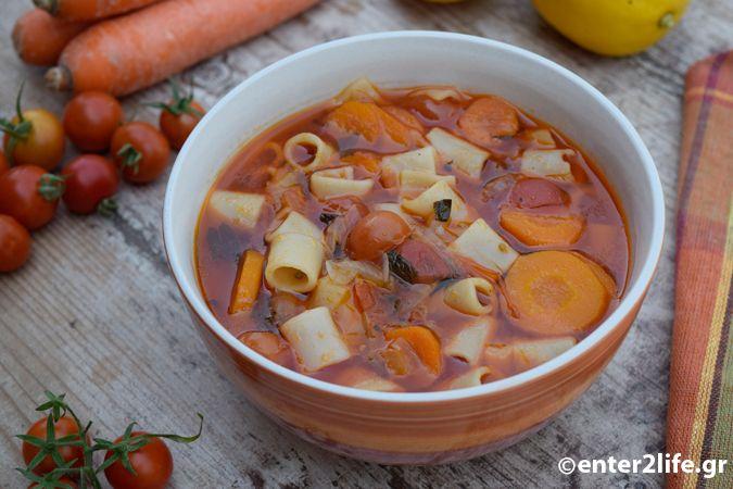 Σούπα Μινεστρόνε με μακαρονάκι ολικής αλέσεως, λαχανικά και φρέσκα αρωματικά – enter2life.gr