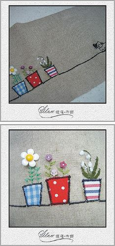 embroidery plant bag | Flickr - Photo Sharing!