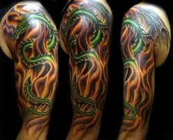 Imagini pentru dragon sleeve tattoo designs for men