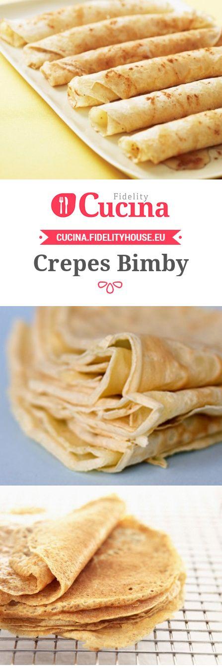 Le #crepes #Bimby sono una ricetta di base perfetta per dei dessert o dei primi piatti molto sfiziosi.