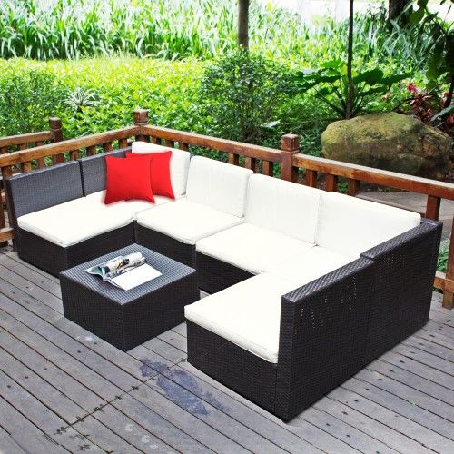 Charming $900  7 Piece Wicker Rattan Garden Set Indoor Outdoor Sofa Lounge Setting  Furniture Great Pictures