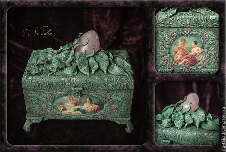Купить Ларец Венера - шкатулка, шкатулка для украшений, шкатулка декупаж, шкатулка деревянная, ларец