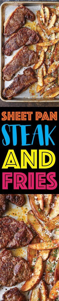 Sheet Pan Steak and Fries