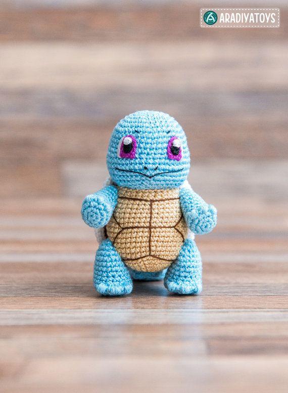 Crochet patrones de Squirtle de Pokemon archivo PDF por Aradiya