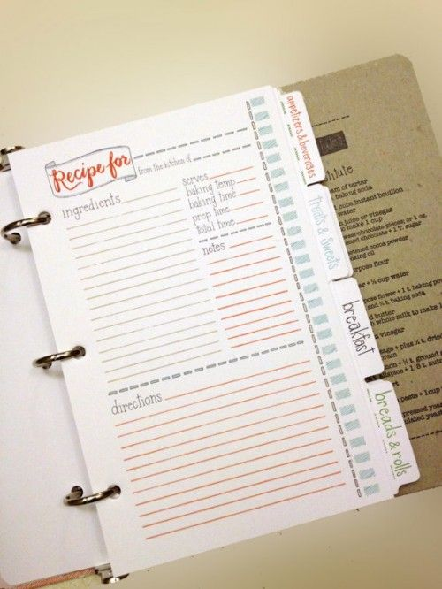 #cookingscrapbook recipe card -- so comprehensive and well laid out