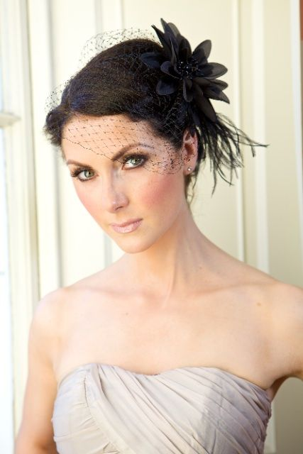 """""""It's All in the Details"""" Black Birdcage Veil 