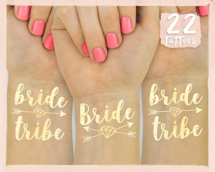 24 Bachelorette Party Flash Tattoos   Bridesmaid Gift   Bride Tribe Favor   Bachelorette Tattoos   Bridal Shower   Engagement Decoration