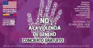 NOV 25 Concierto en contra de la violencia de género