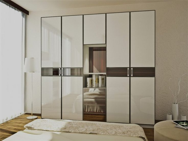 High gloss simple wardrobe designs This fashionable flat pack wardrobe with new design kitchen cabinet doors collection offers timeless beauty and modern fashion for your bedroom home décor with its modern six doors design,especially features by in the middle of the wardrobe, high similarity even more to the beautiful natural grain