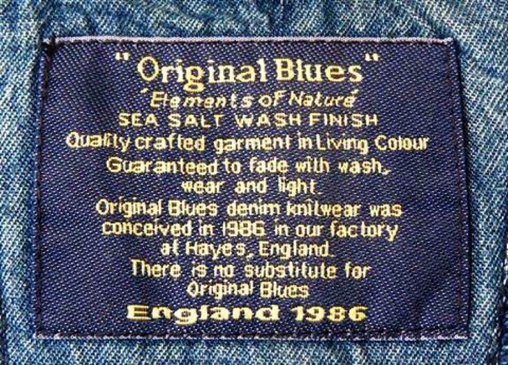 The original denim knitwear company. www.originalblues.uk