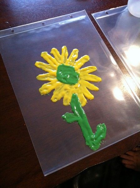 DIY window clings - cool craft for the kids!
