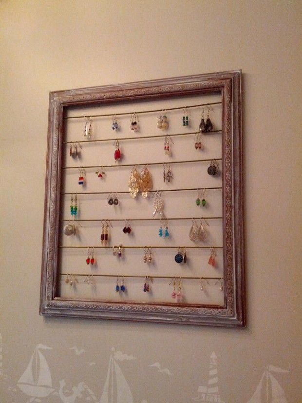 Earring Holder 20 And Affordable Diy Home Decor Ideas Homedecoratingideas