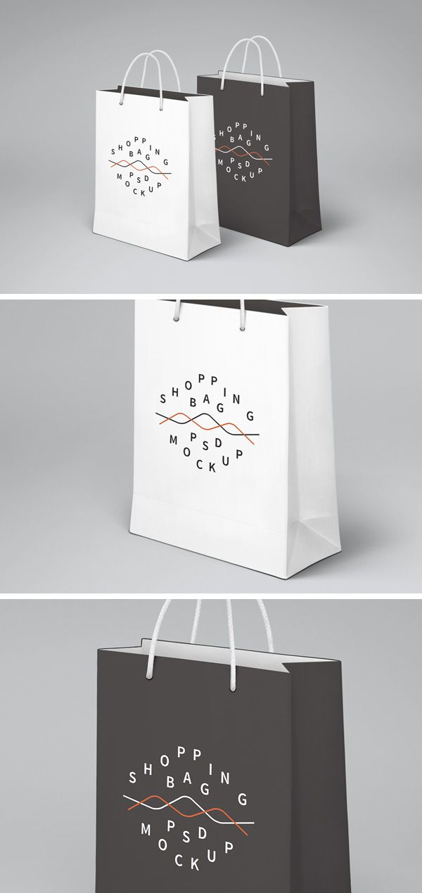 Shopping Bag PSD MockUp | GraphicBurger